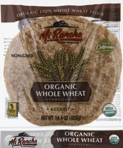 Mi Rancho Organic 100% Whole Wheat Tortillas Perspective: front