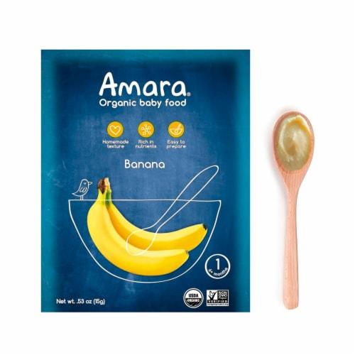 Amara  Organic Baby Food   Banana Perspective: front