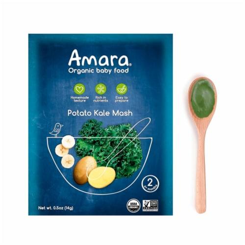 Amara  Organic Baby Food   Potato Kale Mash Perspective: front