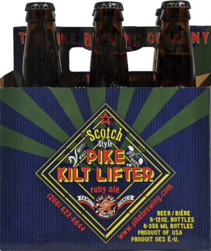 Pike Pub & Brewery Kilt Lifter Scotch Ale Perspective: front