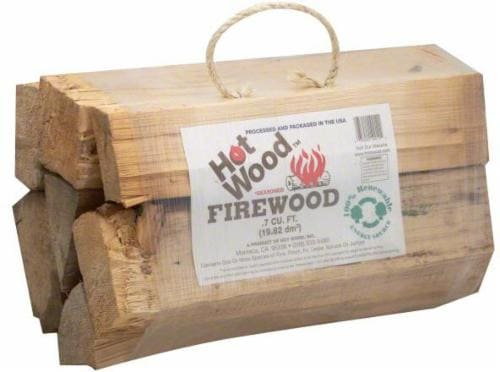 Hot Wood Firewood Bundle - 0.70 Cubic Feet Perspective: front
