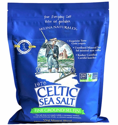 Selina Naturally Fine Ground Celtic Sea Salt Perspective: front