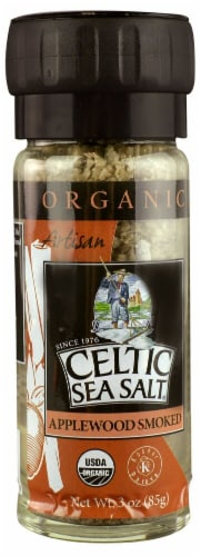 Selina Naturally  Organic Celtic Sea Salt   Applewood Smoked Perspective: front
