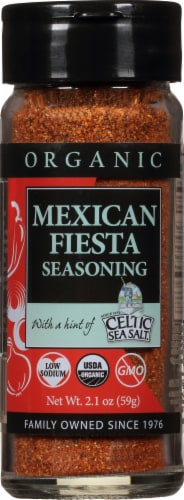 Selina Naturally  Organic Mexican Fiesta Seasoning with a Hint of Celtic Sea Salt Perspective: front