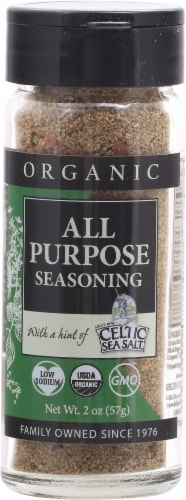Selina Naturally  Organic All Purpose Seasoning with a Hint of Celtic Sea Salt Perspective: front