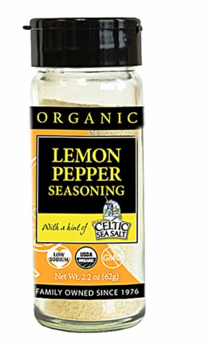 Selina Naturally  Organic Lemon Pepper Seasoning with a Hint of Celtic Sea Salt Perspective: front