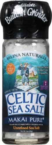 Selina Naturally  Celtic Sea Salt Grinder   Makai Deep Sea Perspective: front