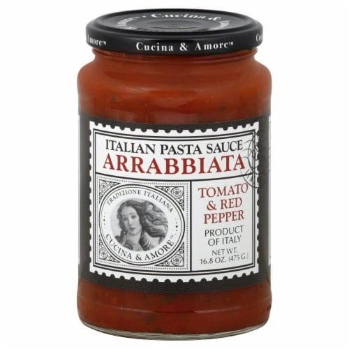 Cucina & Amore Arrabbiata Pasta Sauce Perspective: front