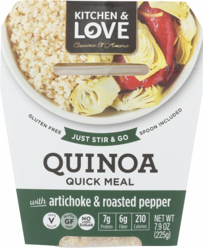 Kitchen & Love Cucina Et Amore Artichoke & Roasted Peppers Quinoa Meal Perspective: front