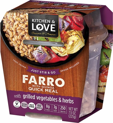 Cucina & Amore Kitchen & Love Grilled Vegetables & Herbs Farro & Quinoa Quick Meal Perspective: front