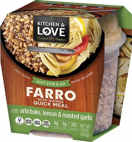 Cucina & Amore Kitchen & Love Artichoke Lemon & Roasted Garlic Farro & Quinoa Quick Meal Perspective: front