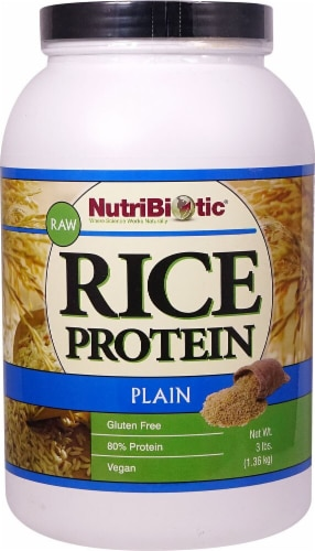 NutriBiotic  Rice Protein Powder Raw Vegan   Plain Perspective: front