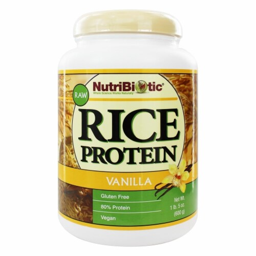 NutriBiotic Vanilla Rice Protein Perspective: front
