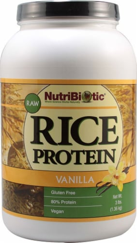 NutriBiotic  Rice Protein Powder Raw Vegan   Vanilla Perspective: front