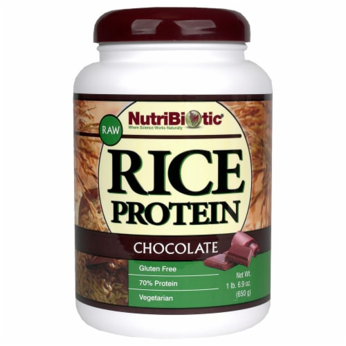 NutriBiotic Chocolate Rice Protein Perspective: front
