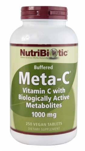 NutriBiotic Buffered Meta-C Vegan Tablets 1000 mg Perspective: front
