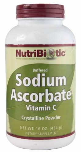 NutriBiotic Buffered Sodium Ascorbate Vitamin C Crystalline Powder Perspective: front