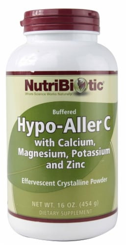 NutriBiotic  Hypo-Aller C Buffered Effervescent Crystalline Powder Perspective: front