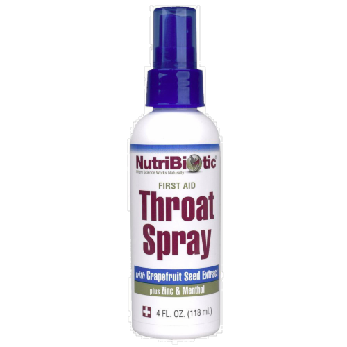 NutriBiotic Throat Spray Perspective: front