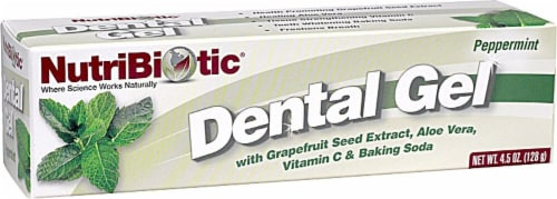 NutriBiotic  Dental Gel   Peppermint Perspective: front