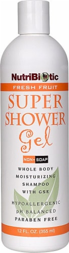 NutriBiotic Fresh Fruit Non-Soap Super Shower Gel Perspective: front