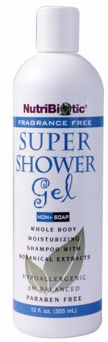 NutriBiotic  Super Shower Gel Fragrance Free Perspective: front