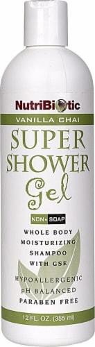 NutriBiotic  Super Shower Gel Vanilla Chai Perspective: front