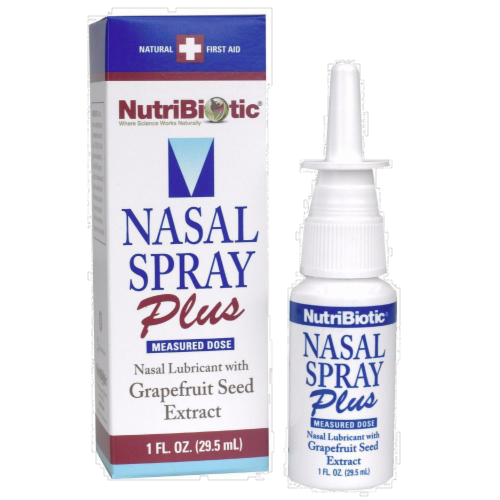 NutriBiotic Nasal Spray Plus with Grapefruit Seed Extract Perspective: front