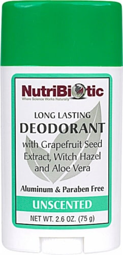 NutriBiotic  Deodorant Stick Unscented Perspective: front