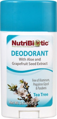 NutriBiotic  Deodorant Stick Tea Tree Perspective: front