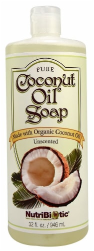 NutriBiotic Coconut Oil Soap Unscented Perspective: front