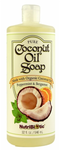 NutriBiotic Coconut Oil Soap Peppermint & Bergamot Perspective: front
