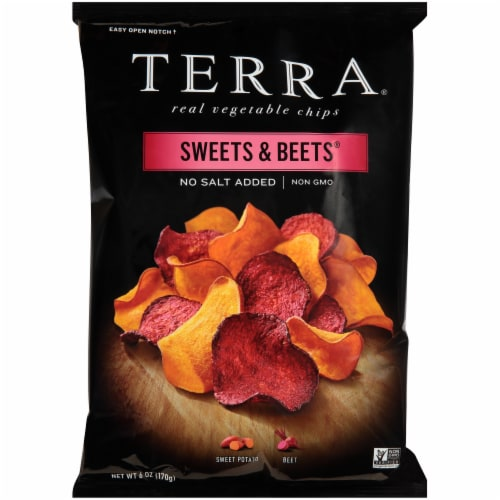 Terra Sweets & Beets No Salt Added Vegetable Chips Perspective: front