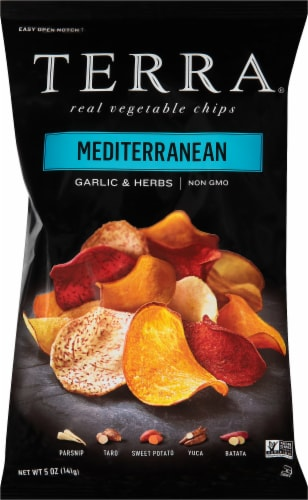 Terra Mediterranean Garlic & Herbs Vegetable Chips Perspective: front
