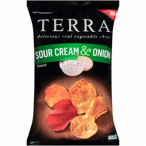 Terra Sour Cream & Onion Vegetable Chips Perspective: front