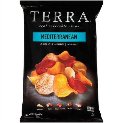 Terra Mediterranean Herbs & A Hint of Lemon Chips Perspective: front