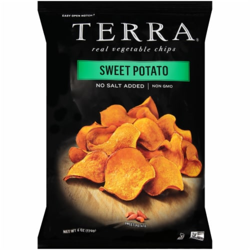 Terra No Salt Added Sweet Potato Real Vegetable Chips Perspective: front