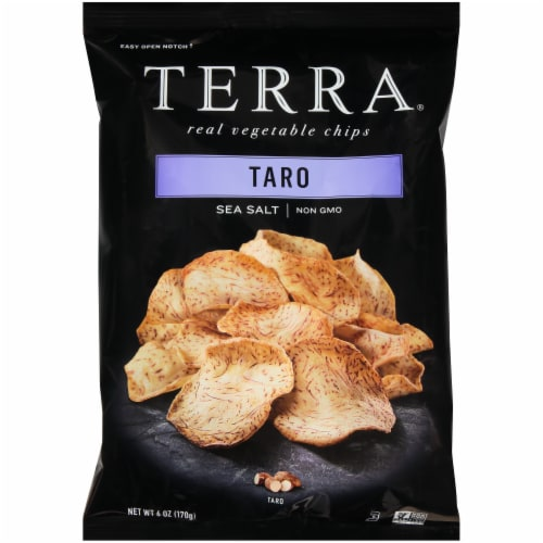Terra Sea Salt Taro Vegetable Chips Perspective: front