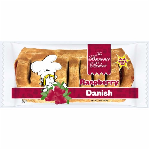 Brownie Baker Raspberry Danish, 5 Ounce -- 54 per case. Perspective: front