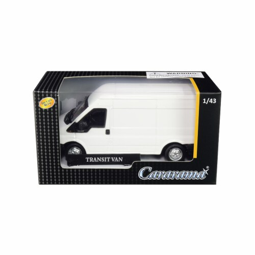 Cararama 46560 Transit Van White 1 by 43 Diecast Model Car Perspective: front