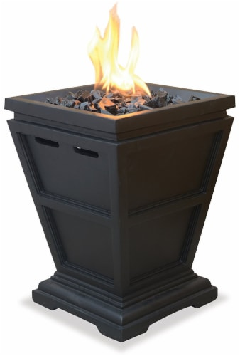 Blue Rhino Gas Fireplace - Dark Brown Perspective: front