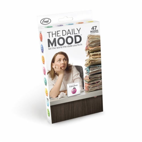 Fred The Daily Mood Desk Flipchart Perspective: front