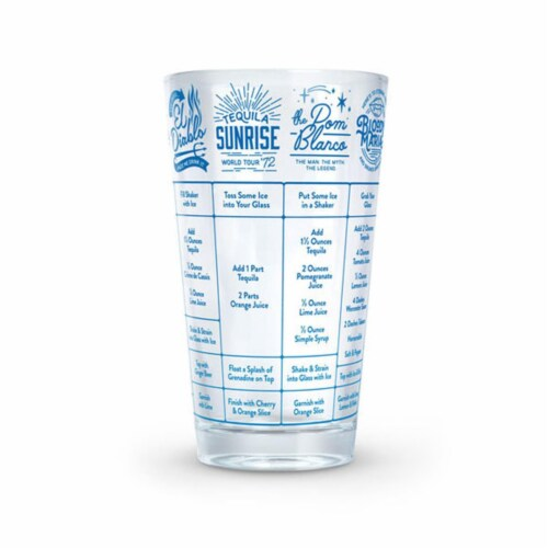 Fred and Friends FRED5192624 Good Measure Tequila Recipe Glass Perspective: front