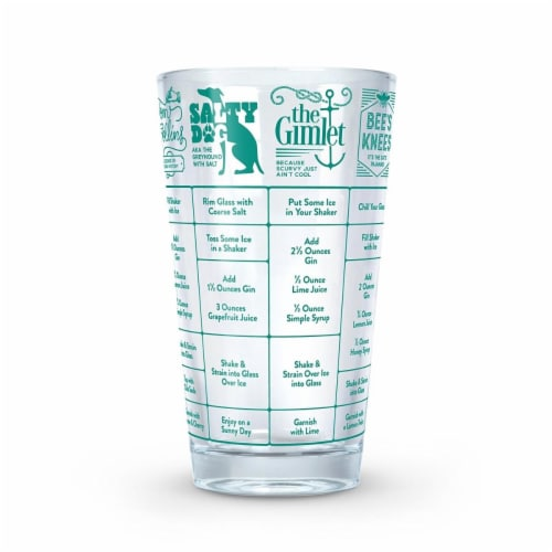 Fred and Friends FRED5193289 Good Measure Gin Recipe Glass Perspective: front