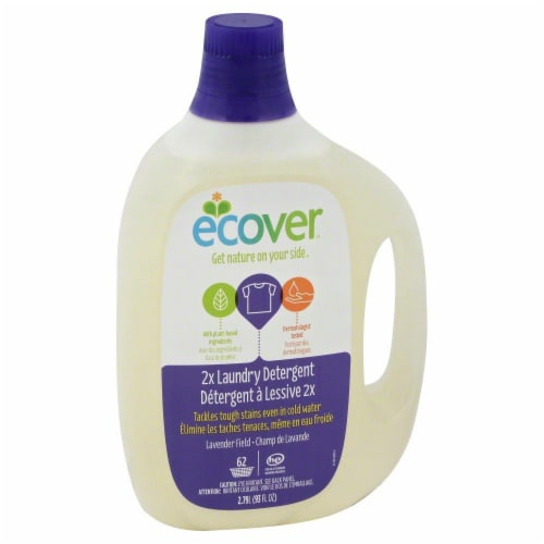 Ecover 2x Lavender Field Liquid Laundry Detergent Perspective: front