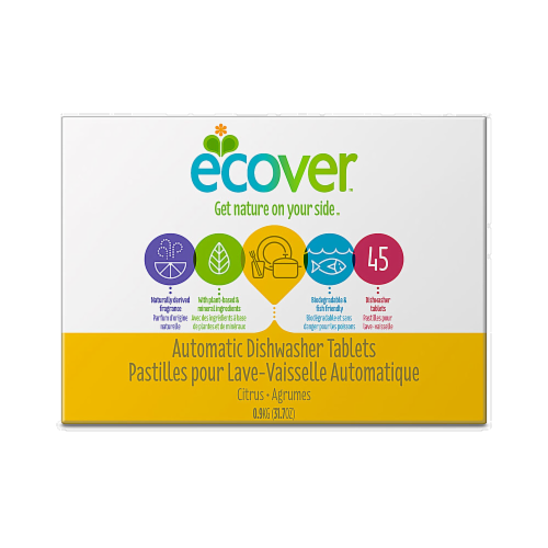 Ecover Automatic Dishwasher Tablets Citrus Perspective: front