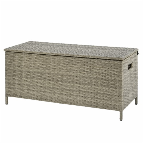 All-Weather Wicker Storage Box Perspective: front