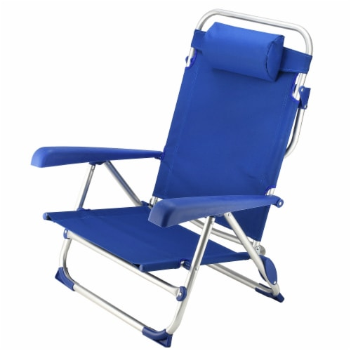 5-Position Folding Beach Chair Perspective: front