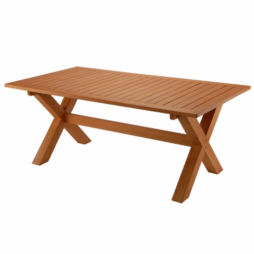 Eucalyptus Grandis Wood Farmhouse Style Table Perspective: front