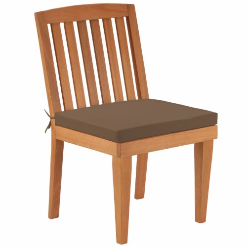 Eucalyptus Grandis Wood Dining Chair, Chocolate Perspective: front